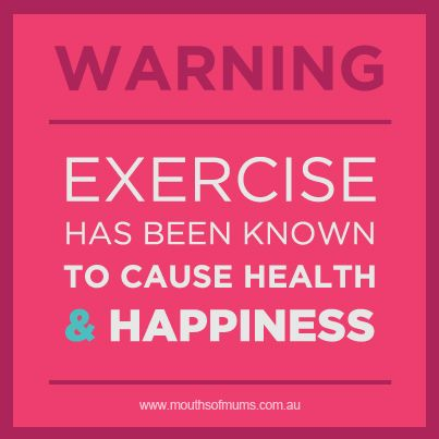 Exercise caused happiness