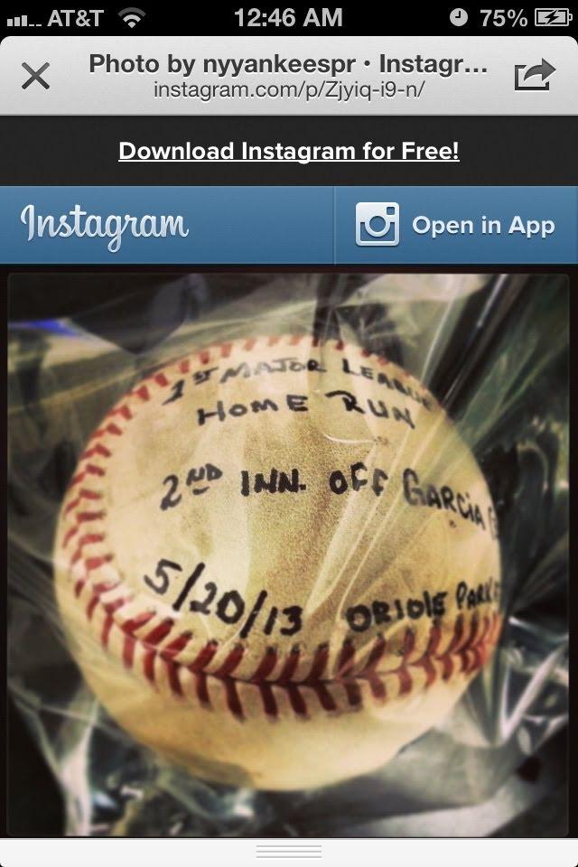 David's First Homerun. His mom got this ball.